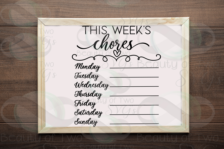 This week's organization svg Bundle, Menu svg, chores svg example image 5