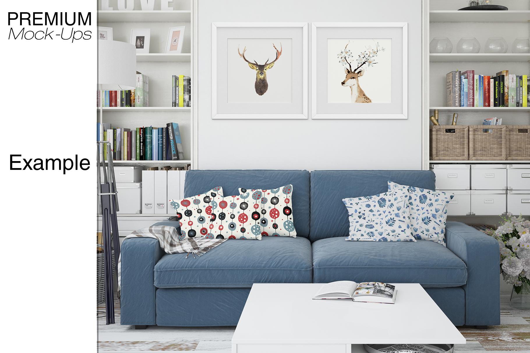 Pillows & Frames Mockup Set example image 15