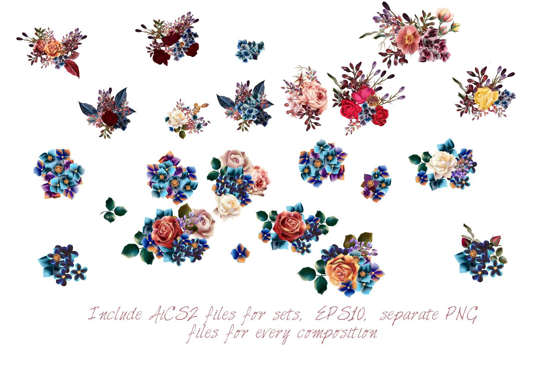 Mega vector floral set example image 3
