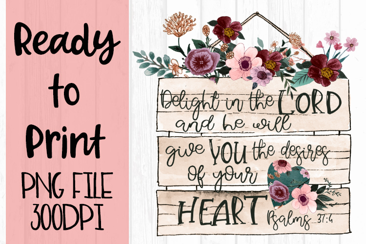 Delight in the Lord Psalms Ready to Print example image 1
