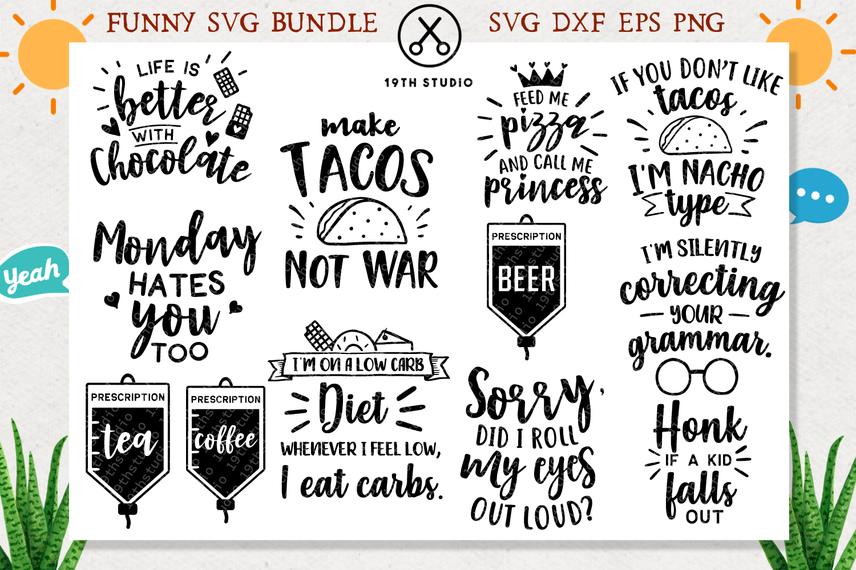 Funny SVG Bundle - MB4 example image 3