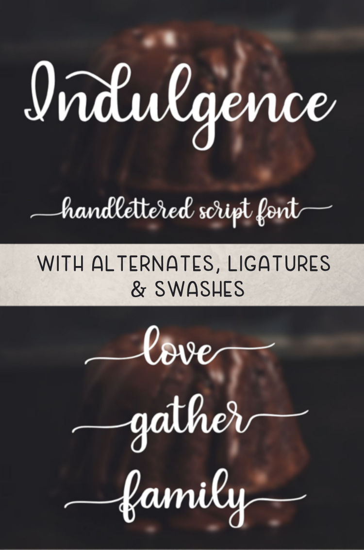 Indulgence - A handlettered script font example image 9