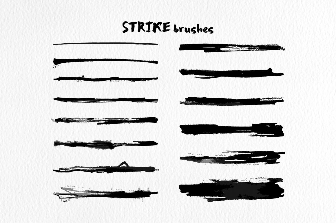 Strike Brushes for Illustrator example image 5
