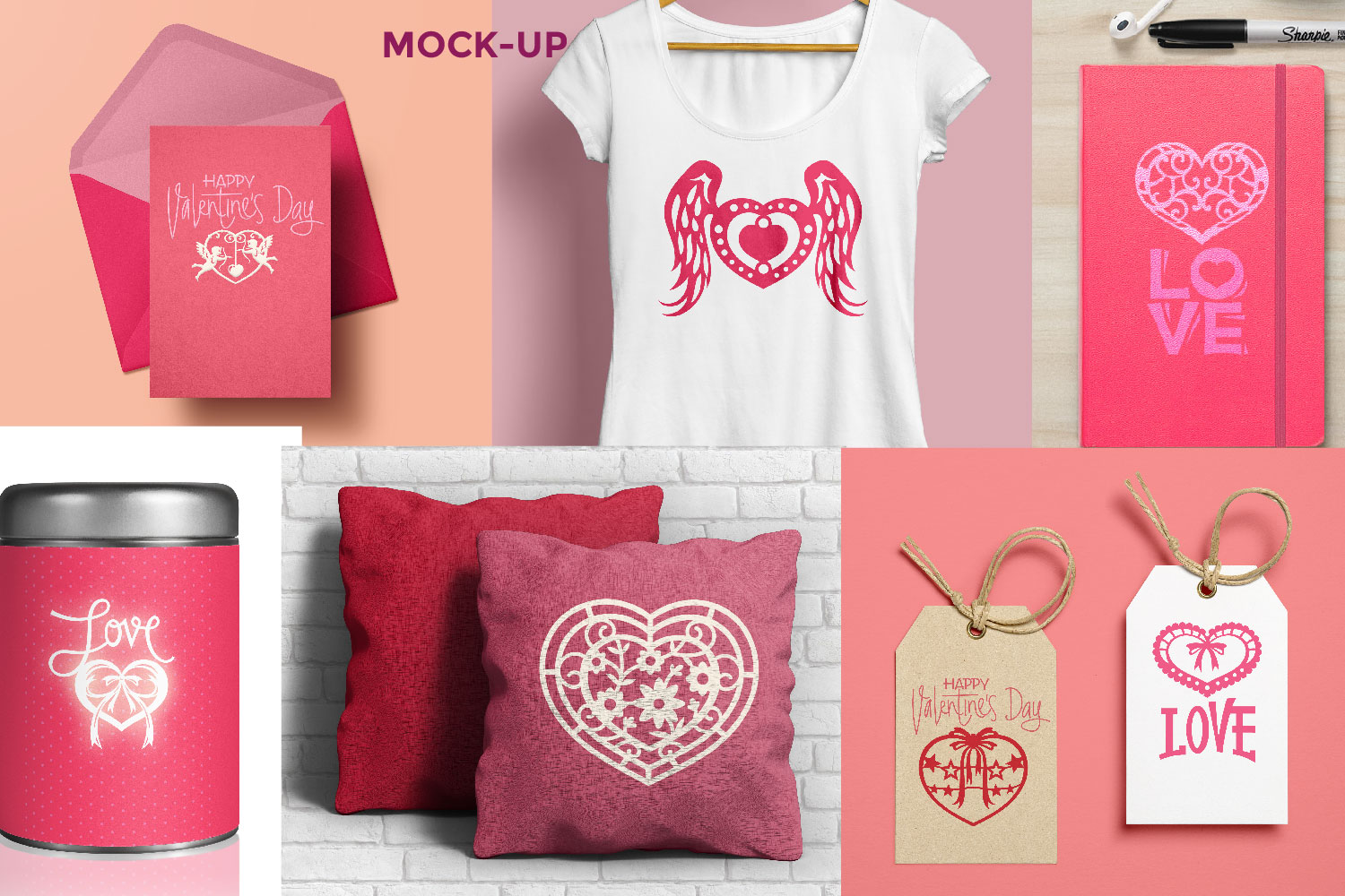 Valentine's Day Love Signs Cutting File SVG example image 4