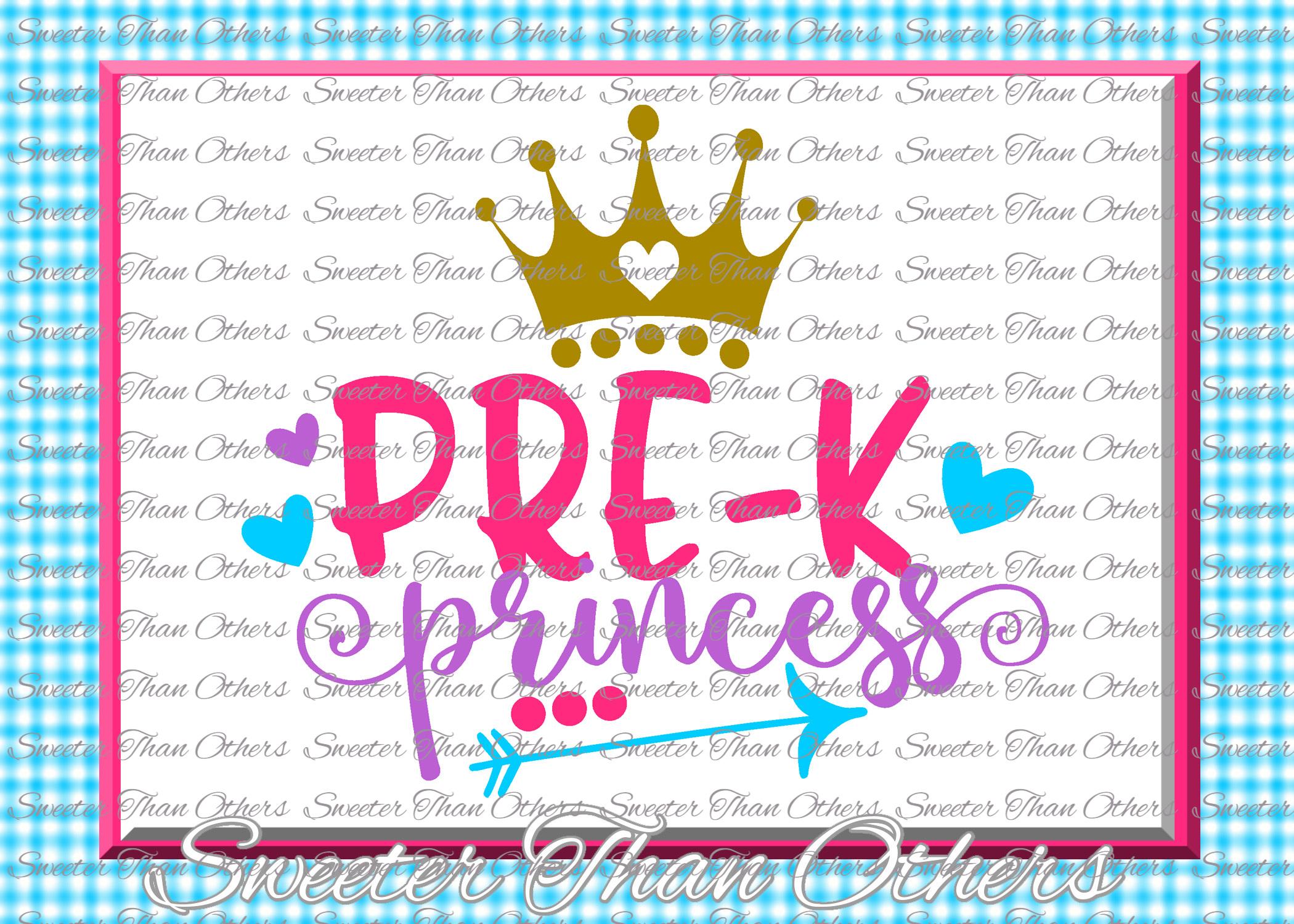 School Princess SVG Bundle Kindergarten First Day of School example image 10