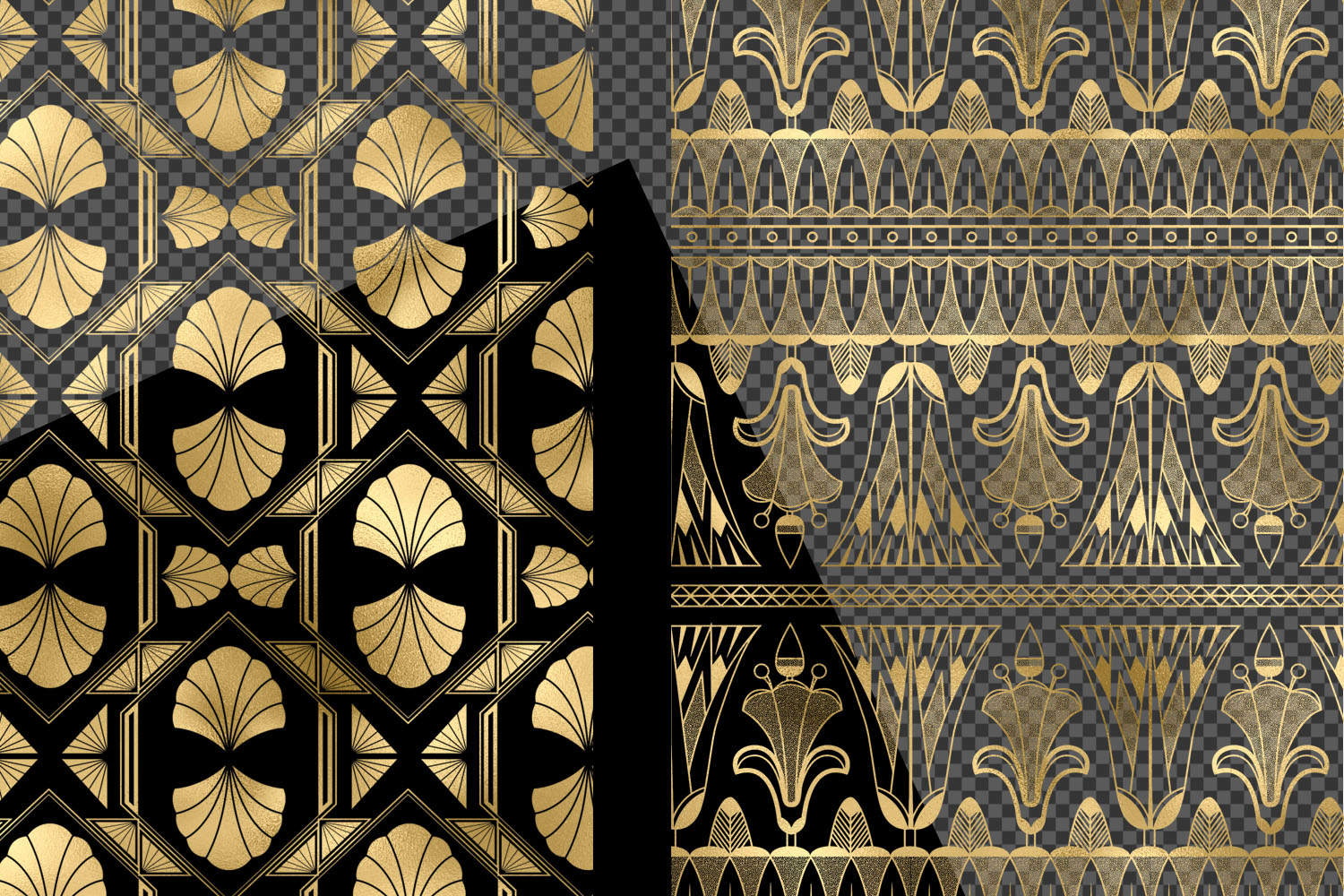 Gold Art Deco Pattern Overlays example image 5