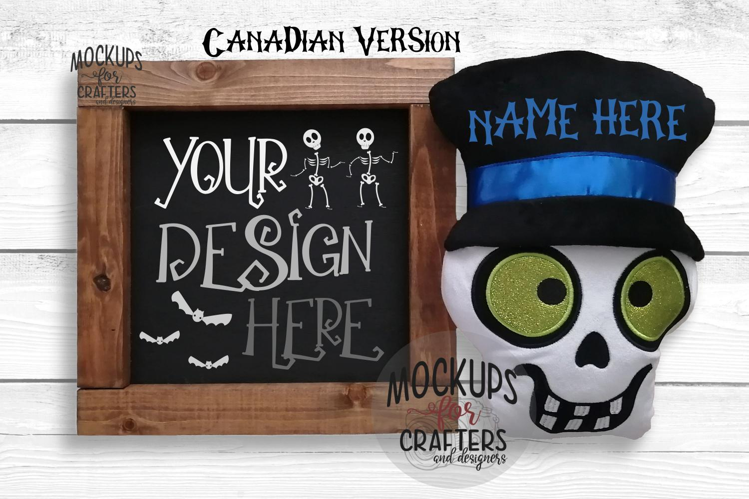 Wood Sign Mock-Up - Halloween theme - Dollarama Stuffie example image 2