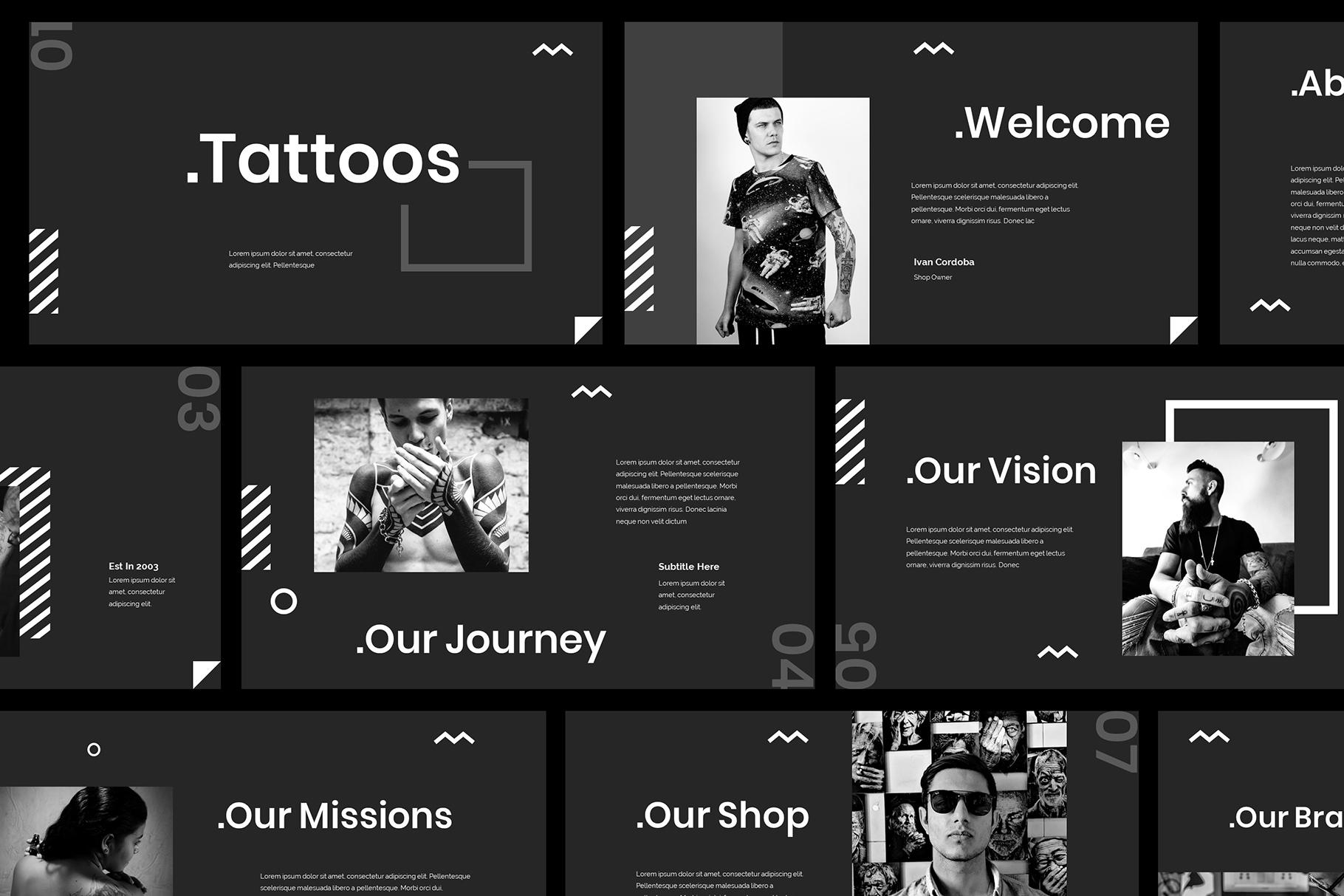 Tattoo Google Slides Presentation example image 2