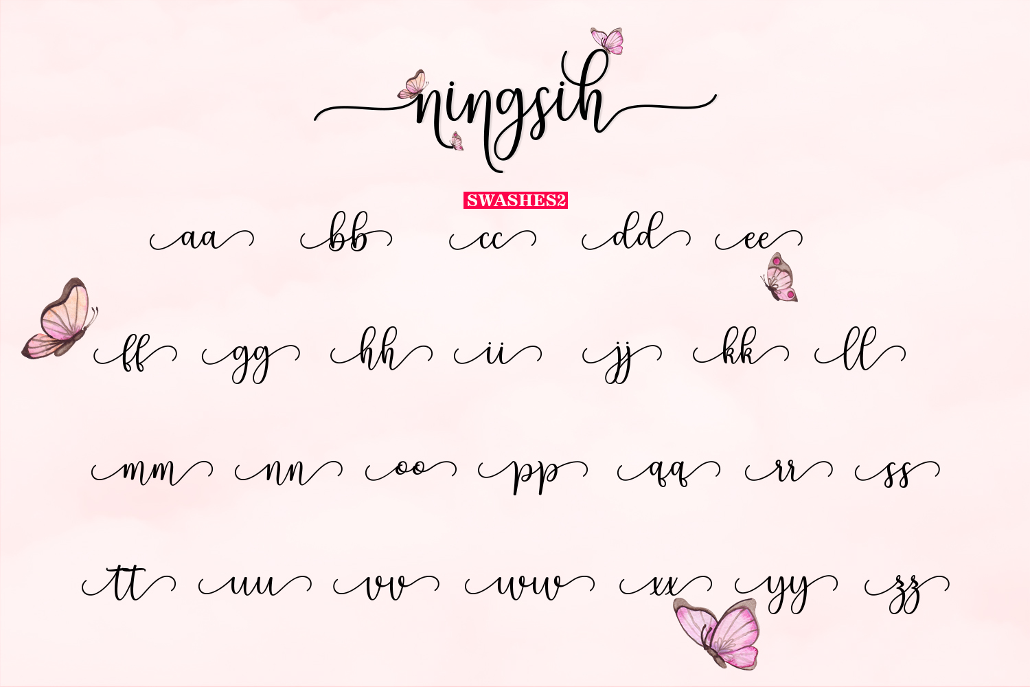 Ningsih Script | Luxury Font example image 11