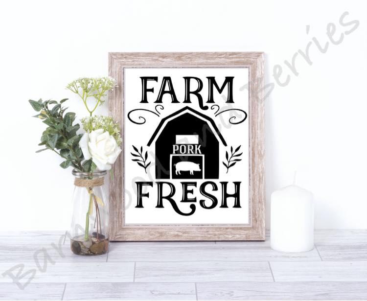 Farm Fresh Pork SVG example image 1