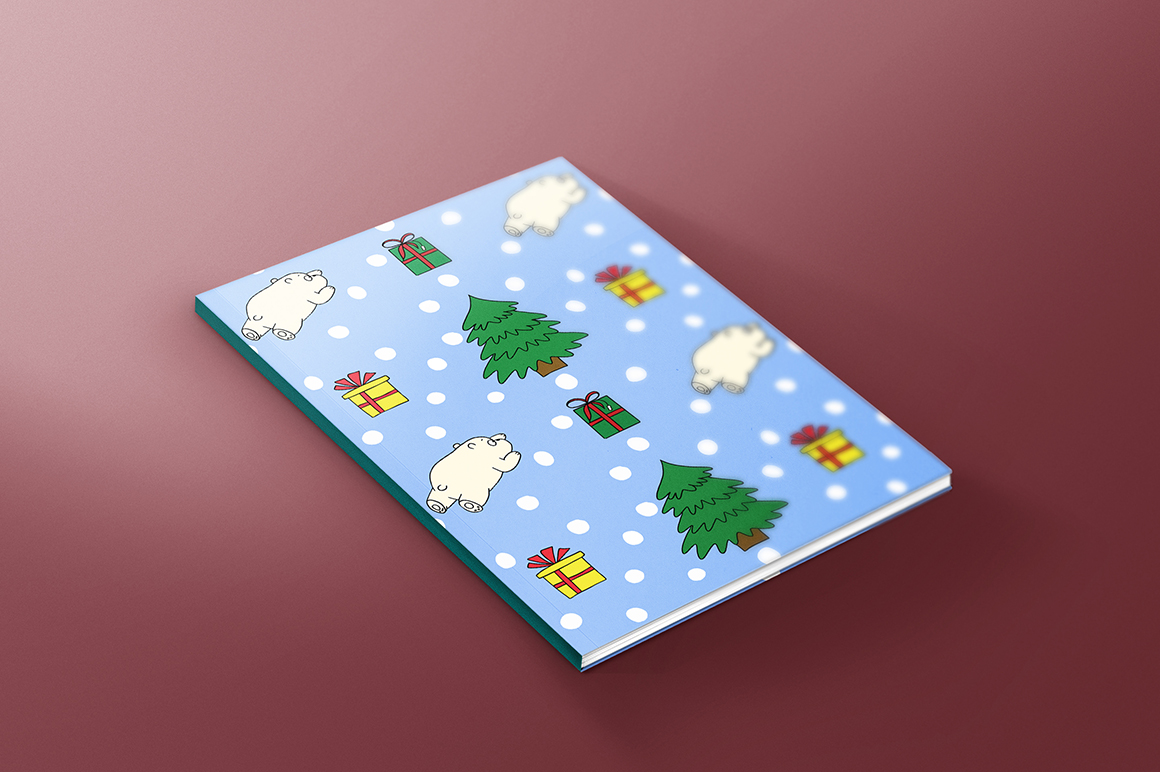 Christmas bears and patterns example image 7