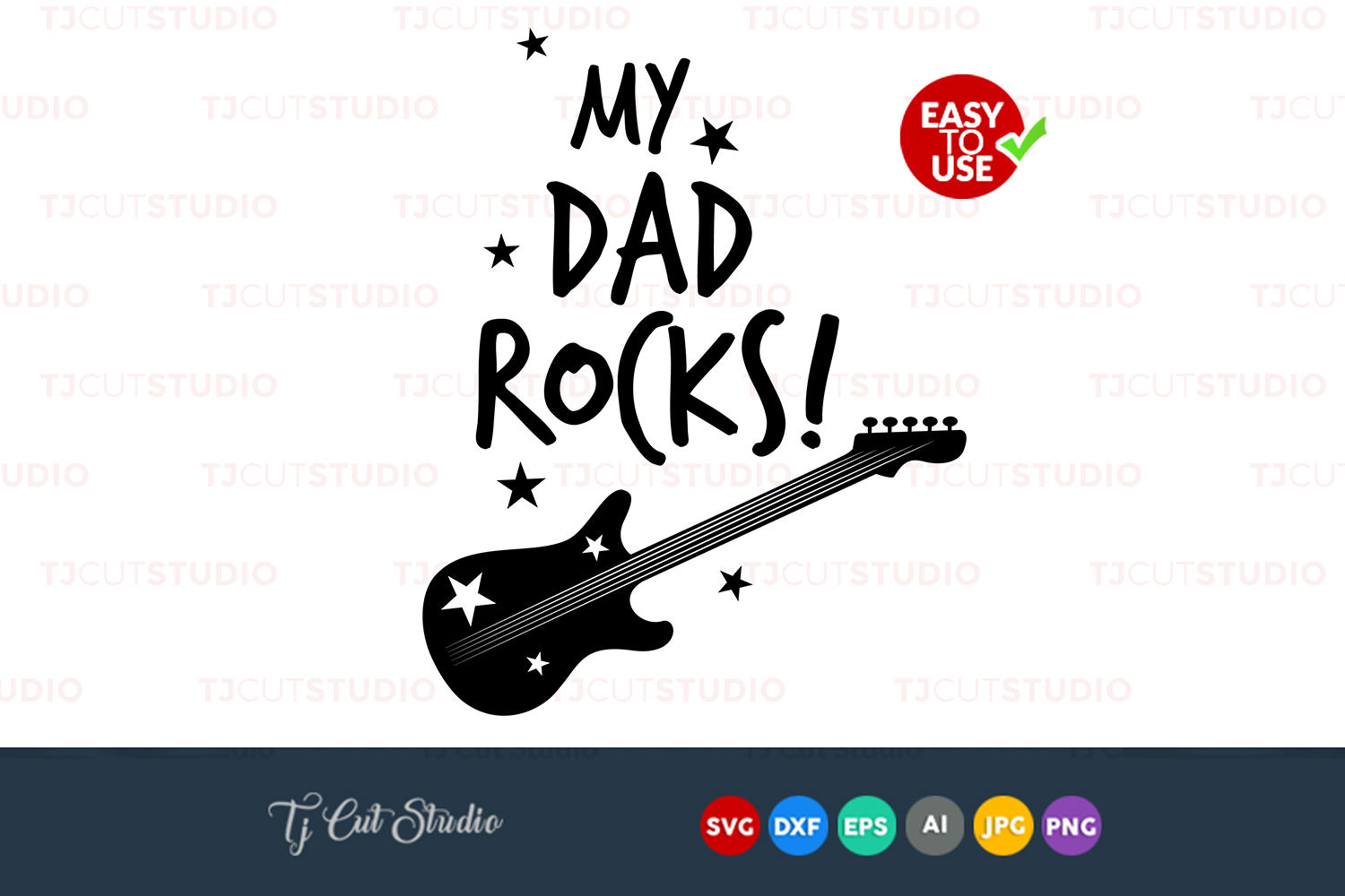 My dad rocks svg, my dad rocks, quote svg, Files for Silhouette Cameo or Cricut, Commercial & Personal Use. example image 1