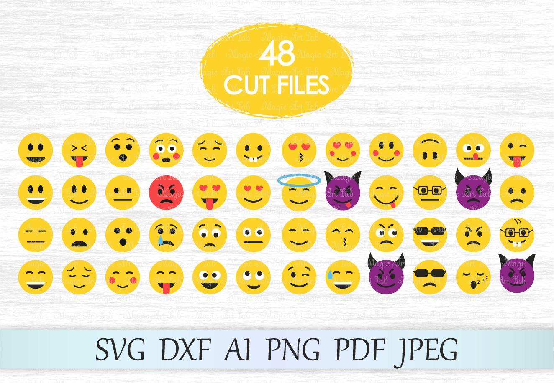 Emoji SVG, Emoticon svg, Emoji print svg, Emoji clipart example image 1