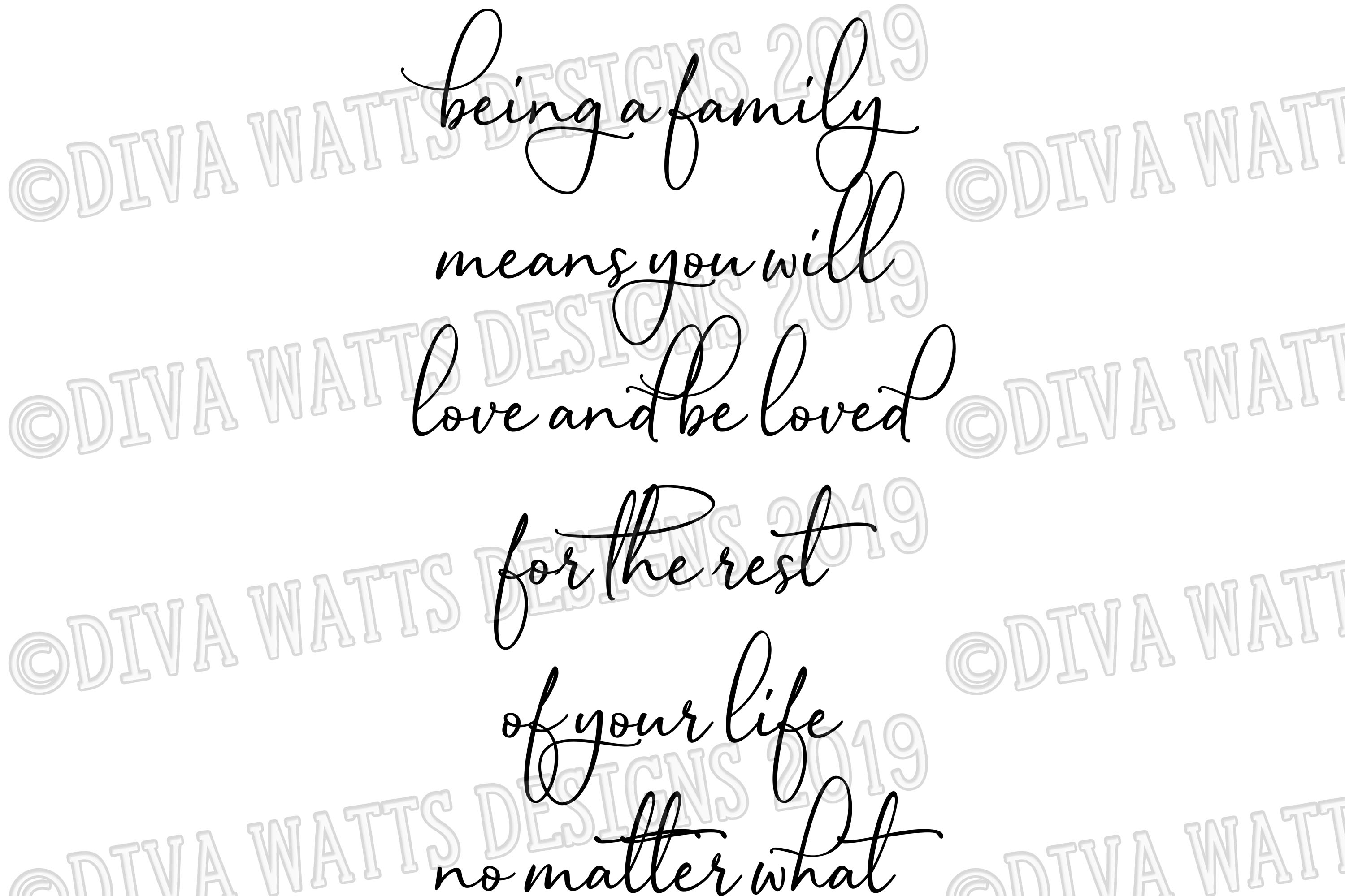 Being A Family Means You will Love and Be Loved Cutting File example image 2