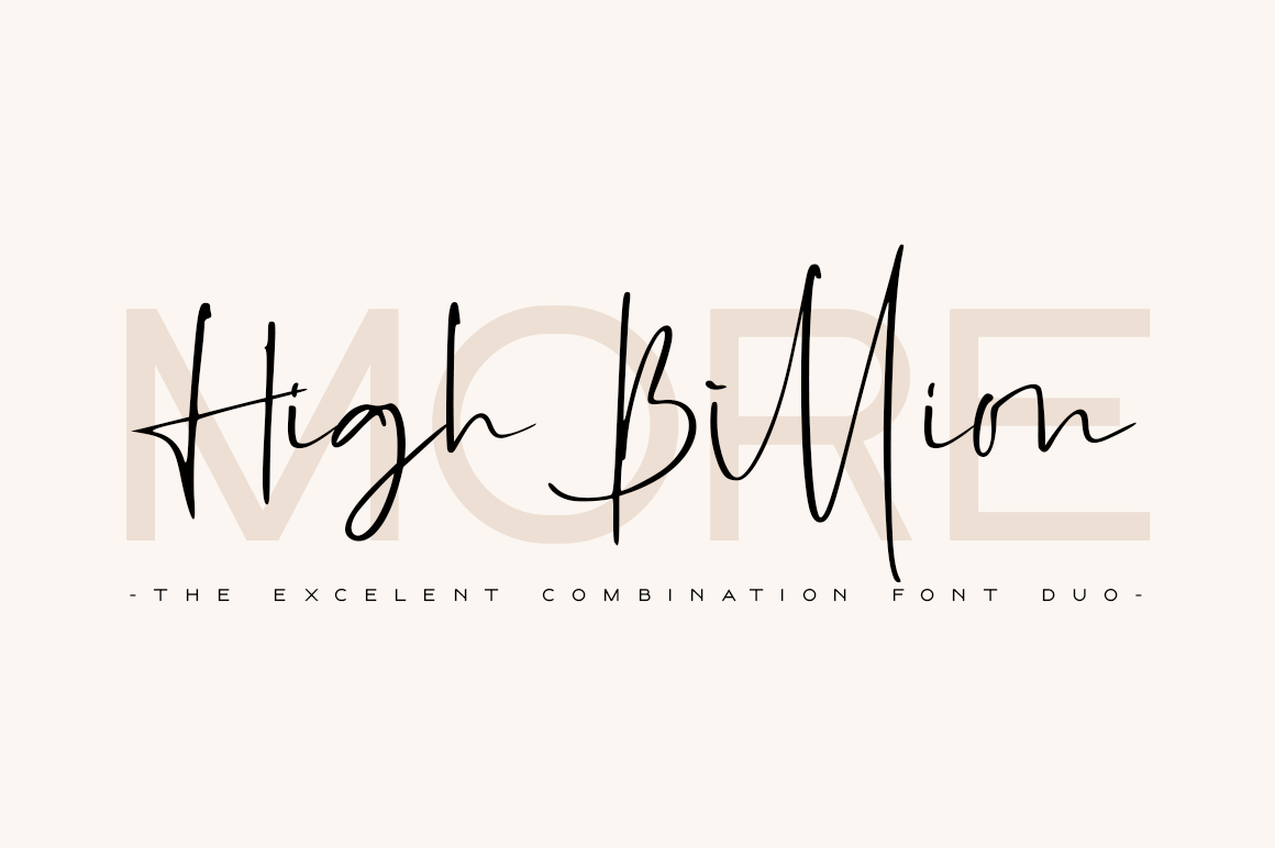 High Billion Font Duo example image 1