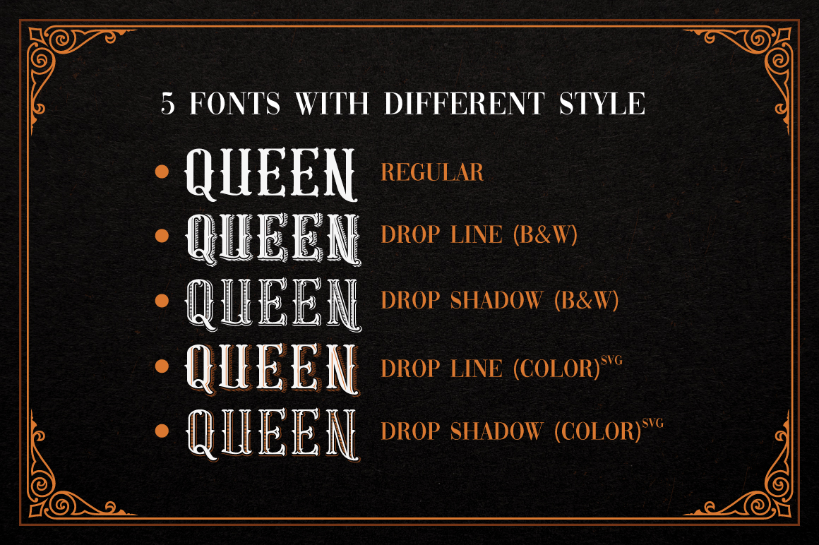 Gold Queen Vintage Font example image 2