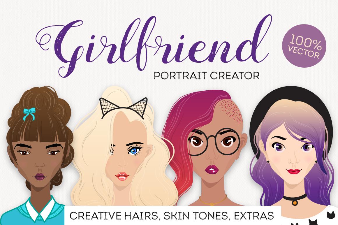Girlfriend female portrait creator example image 1