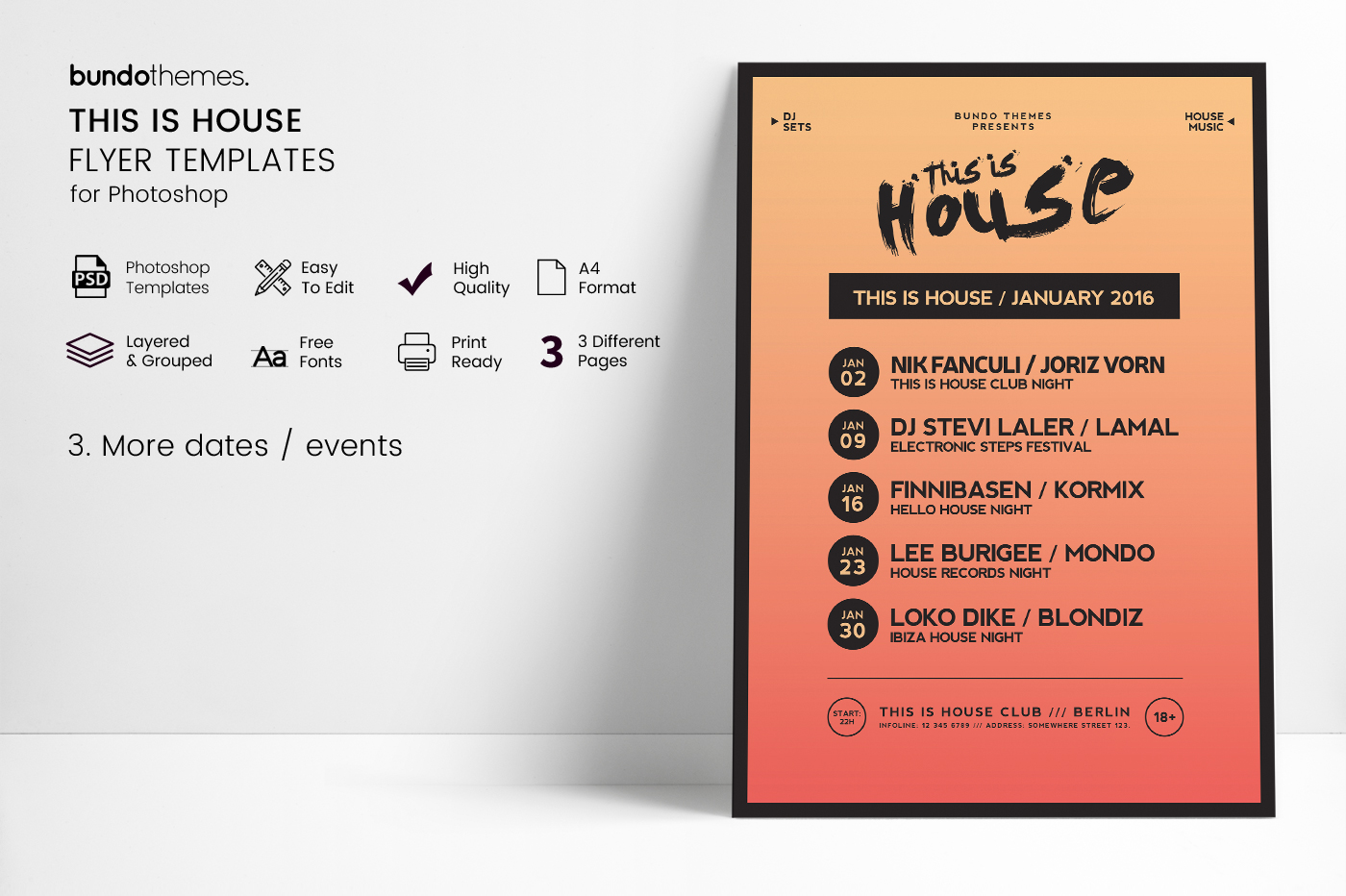 This Is House Flyer Templates example image 2
