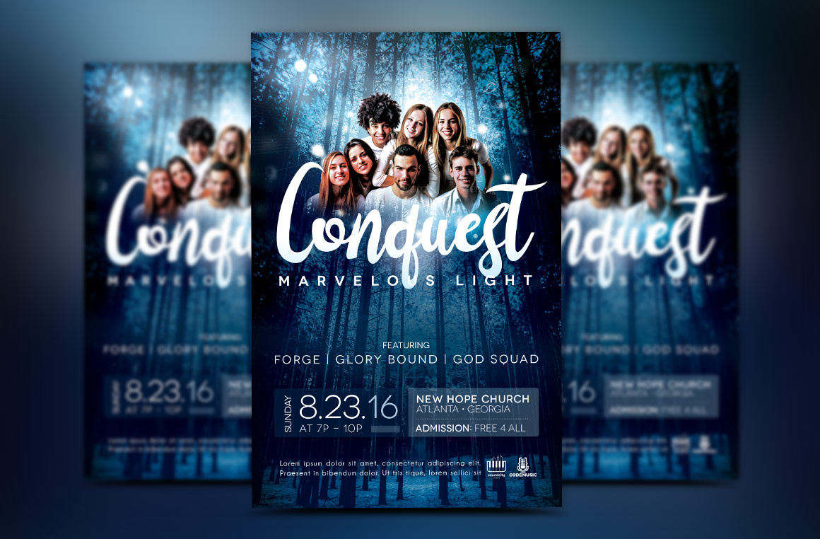 Youth Concert Flyer Template example image 1