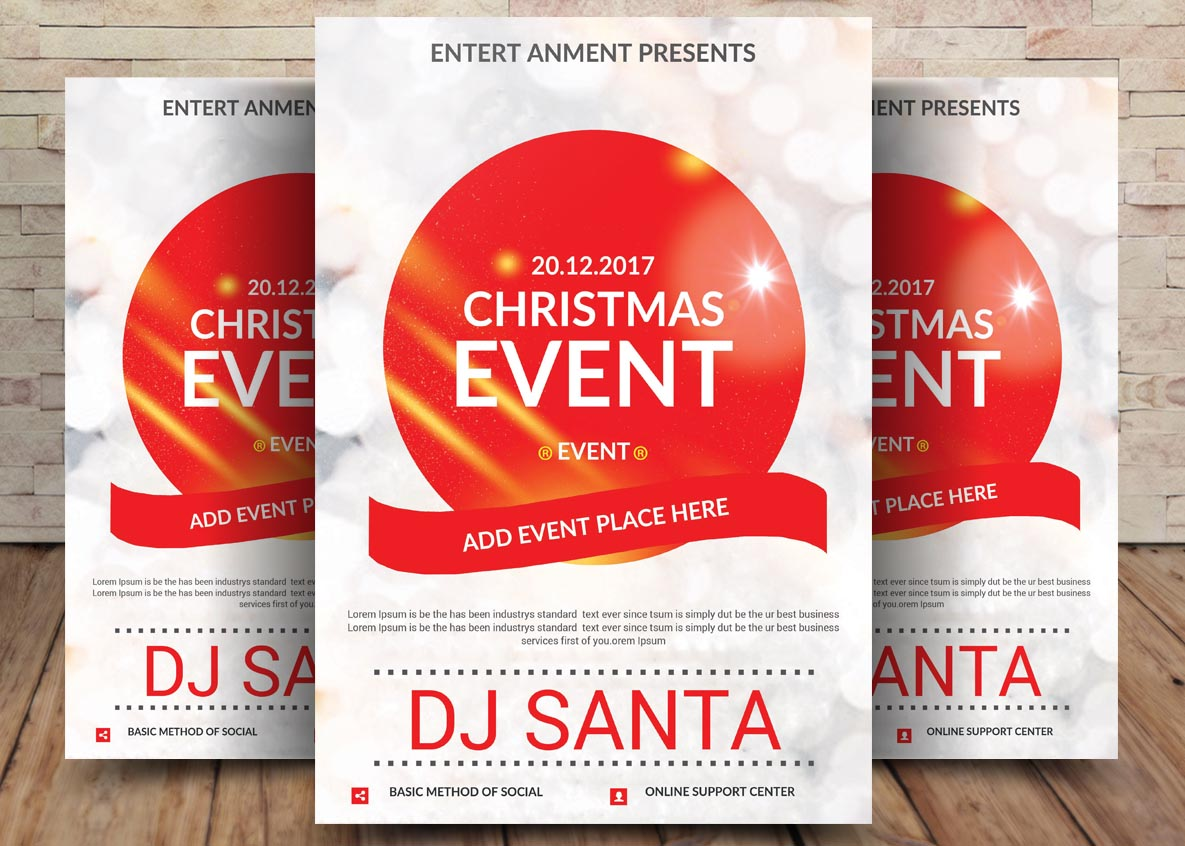 Christmas Event Poster Template example image 1