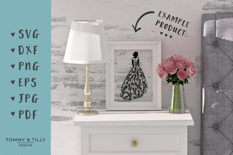 Download Floral Bride No.1 - SVG EPS DXF PNG PDF JPG Cutting File