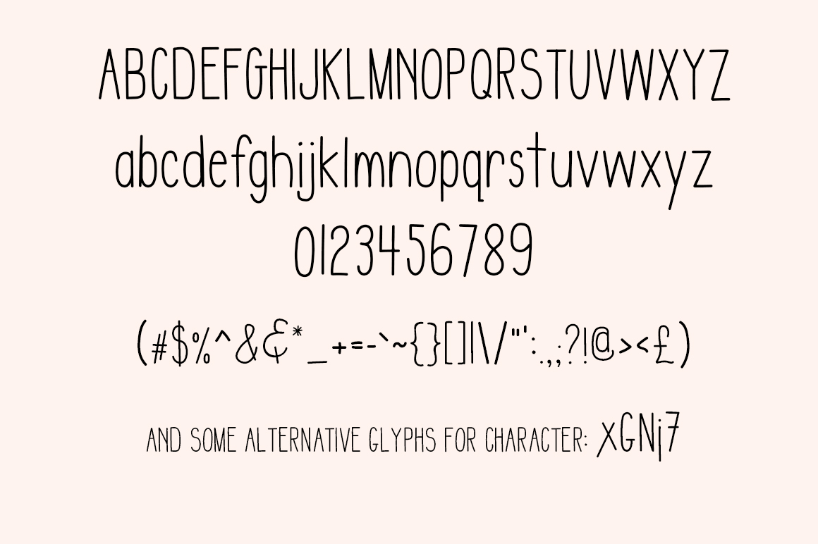 IMPERFECTION - A Sans Serif hand written font example image 4