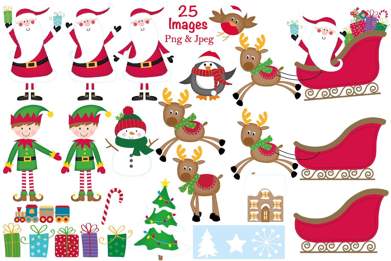 christmas clipart christmas graphics illustrations santa example image 2