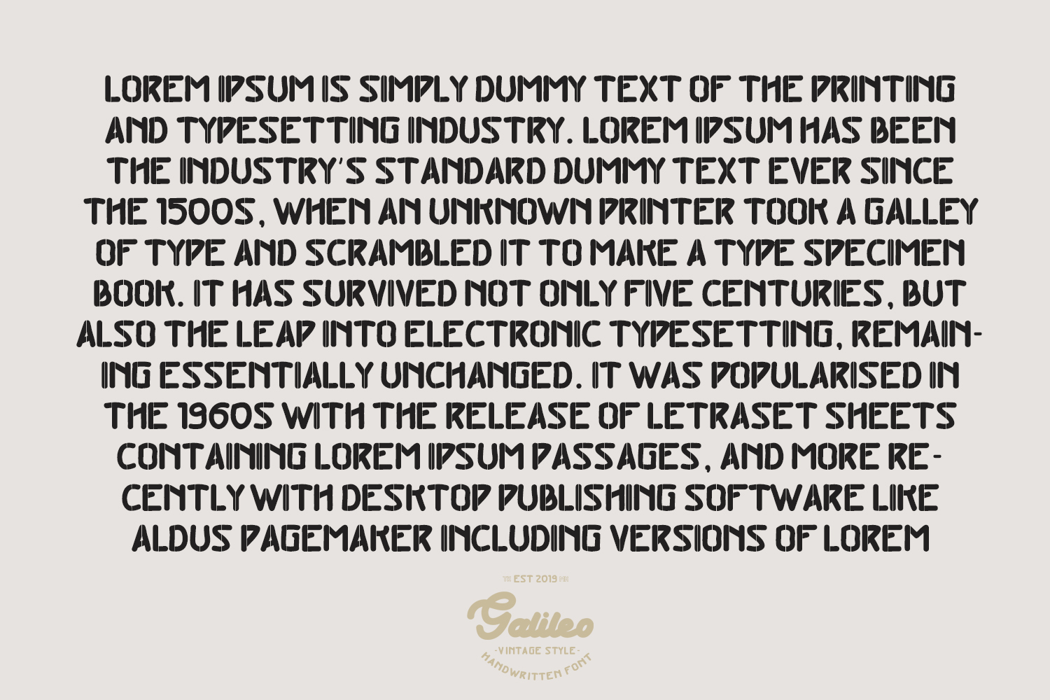 Galileo - Vintage Style - Font Duo example image 8