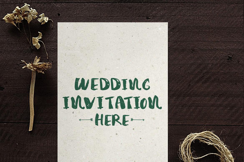 Wedding Invitation Mockup example image 3