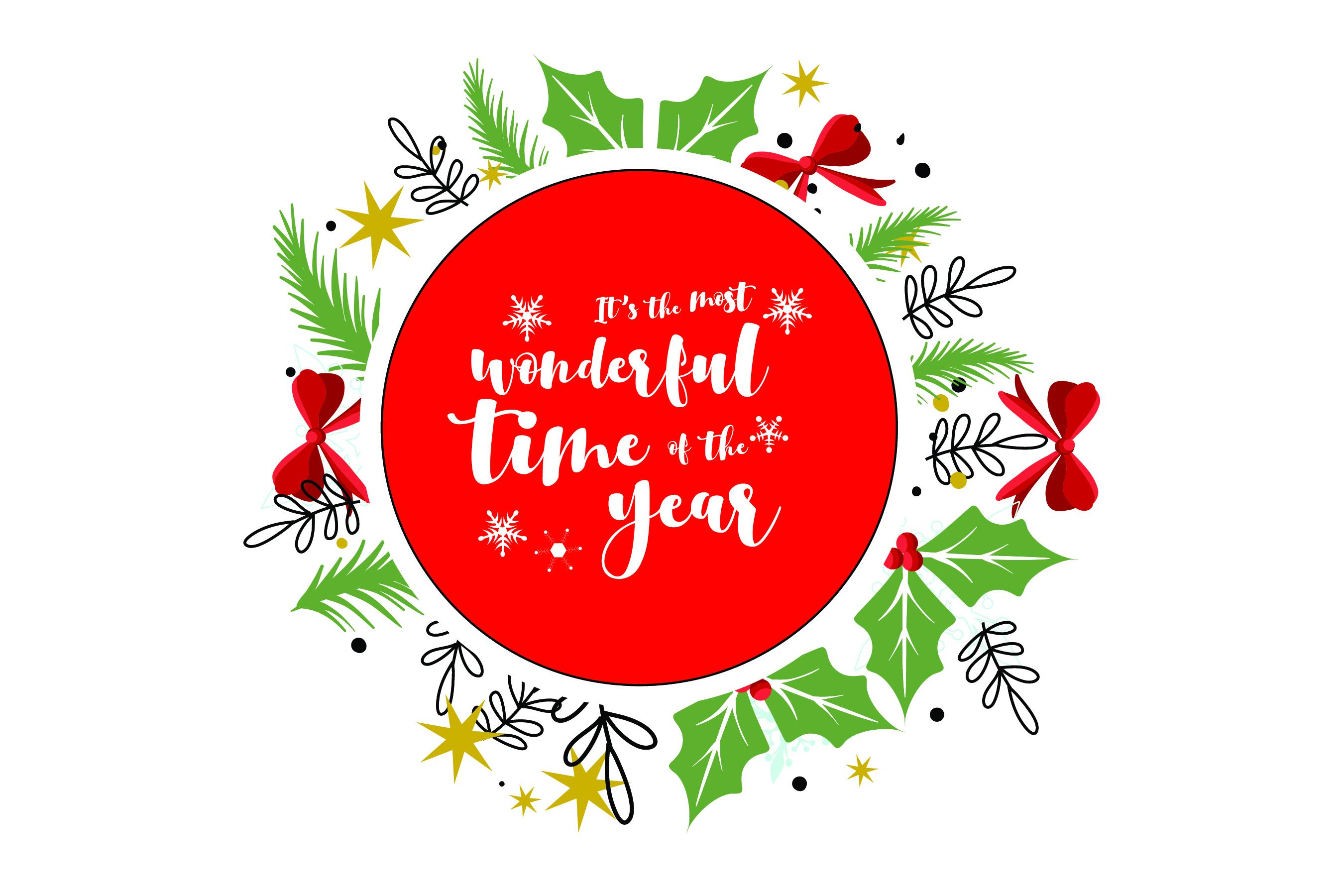 Merry Christmas-SVG Cut File-Coffee Mug Design-Greeting Card example image 7