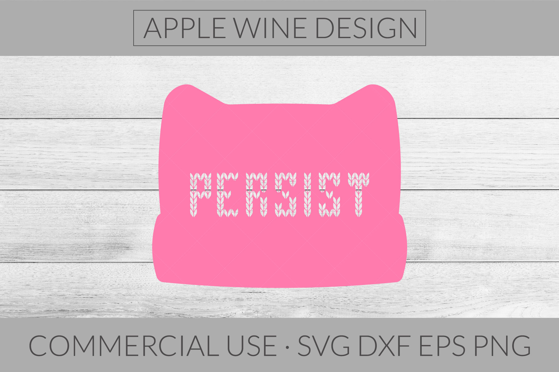 Persist SVG DXF PNG EPS Cutting File example image 1