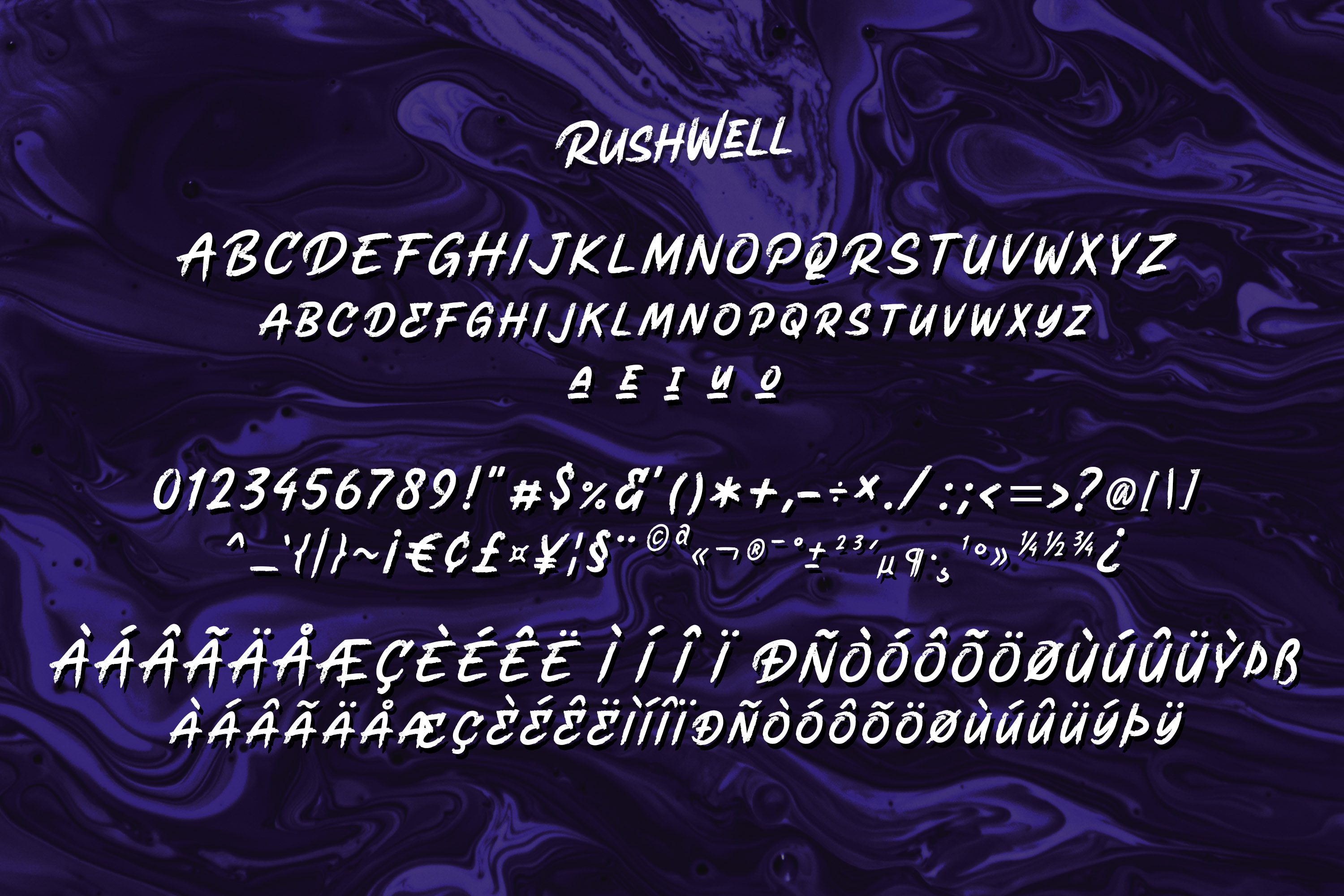 Rushwell - Brush Font example image 8
