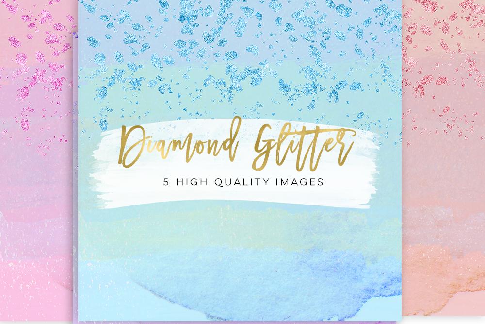 glitter diamond paper, Birthday Paper Gold or silver, planner stickers, diamond gem fashion illustration paper scrapbook, Diamond Weddings example image 2