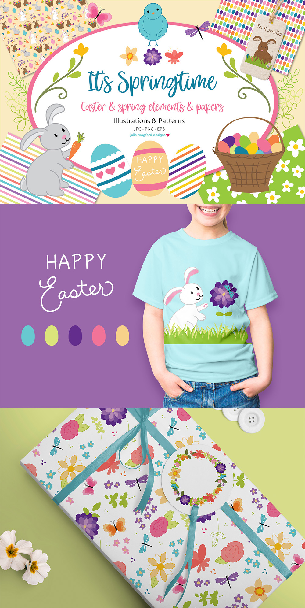 It's Springtime - Easter & Spring Graphics and Papers example image 8