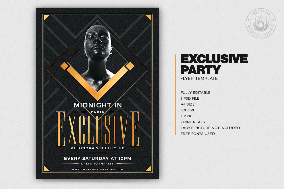 Exclusive Party Flyer Template example image 2
