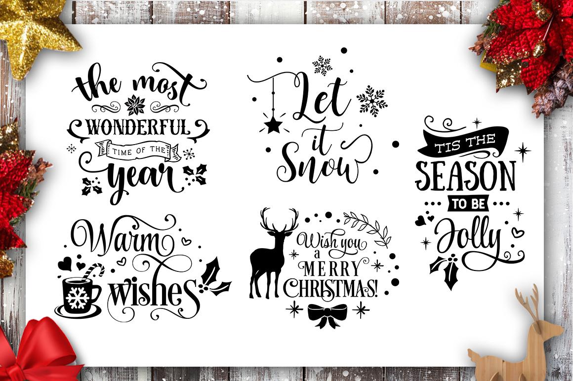 Christmas Bundle SVG bundle 40 designs Winter SVG example image 10