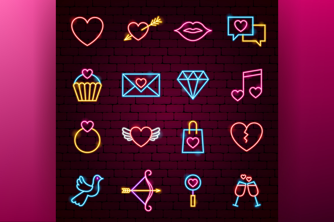 Valentine's Day Neon example image 3