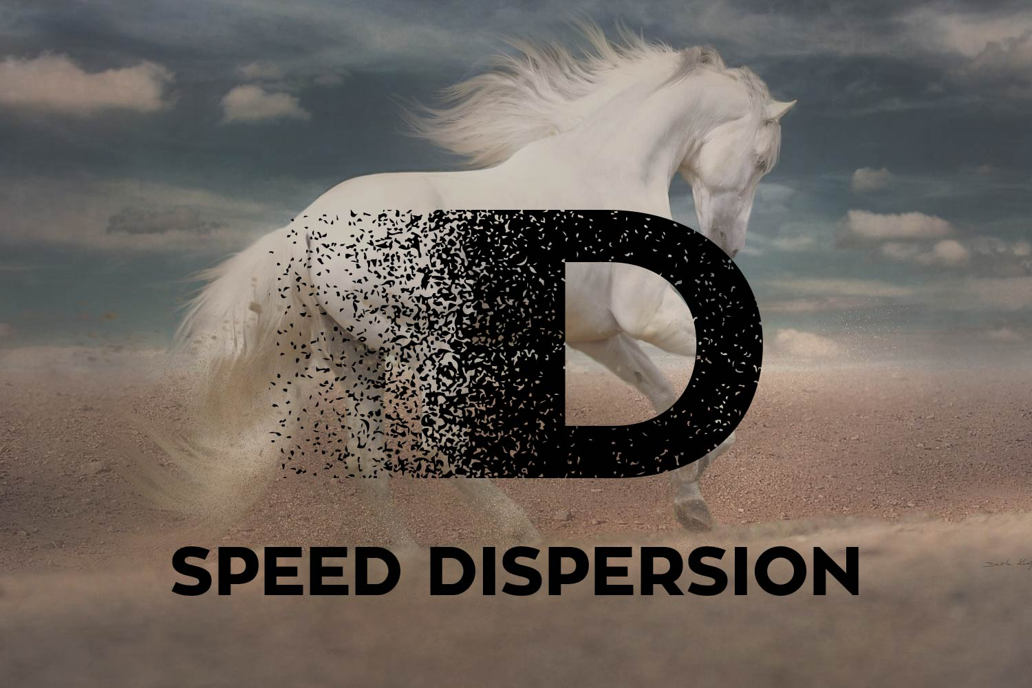 Speed Dispersion Font example image 1