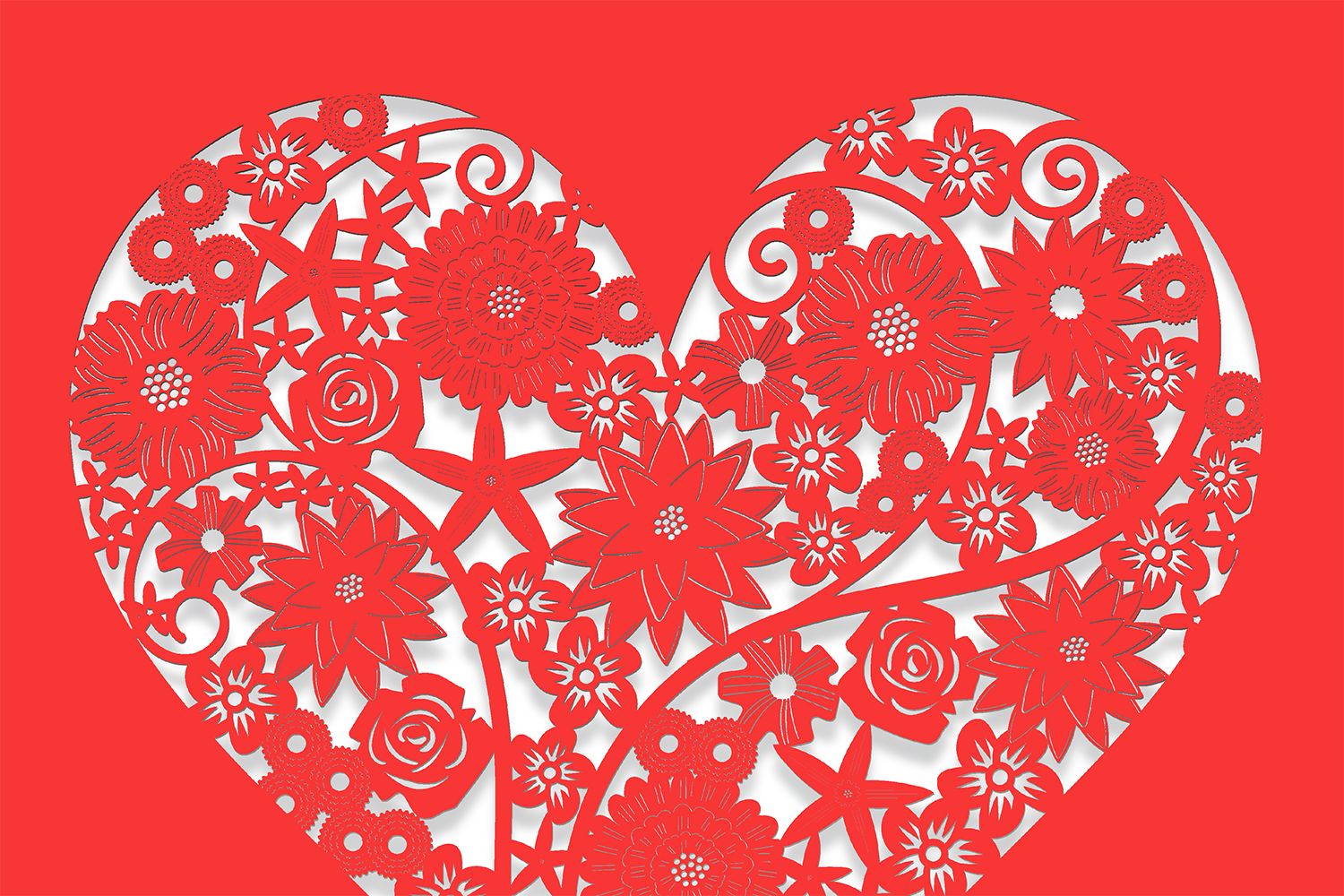 Ten Decorative Heart Cut Out Design 1 example image 3