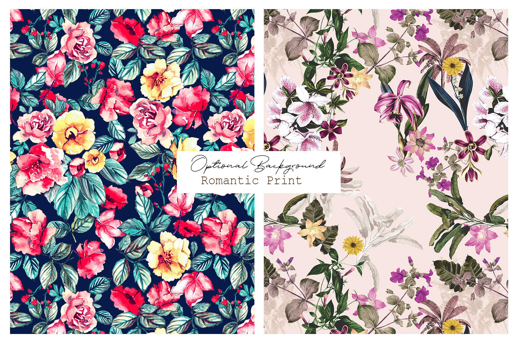 Romance|Flowers Patterns clipArt example image 11