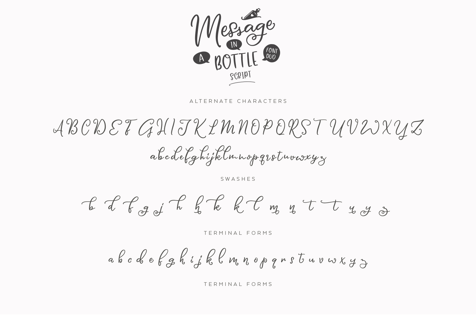 Message In A Bottle Font Duo And Extras example image 16