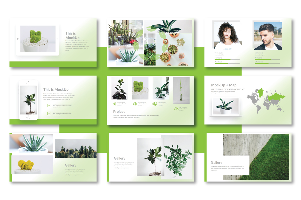 Plant Powerpoint Template example image 4