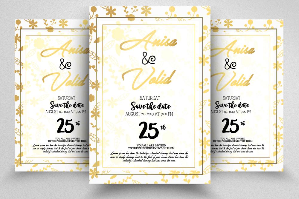 10 Wedding Invitation Flyer Bundle example image 10