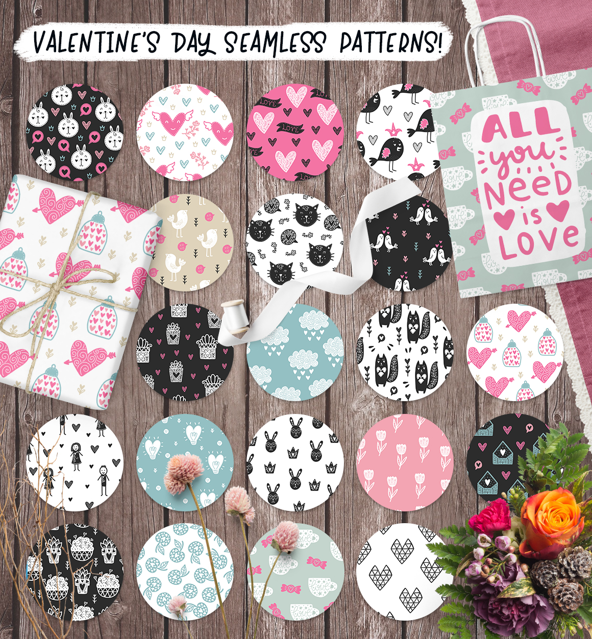 Hello Valentine's Day - Clipart Set! example image 7