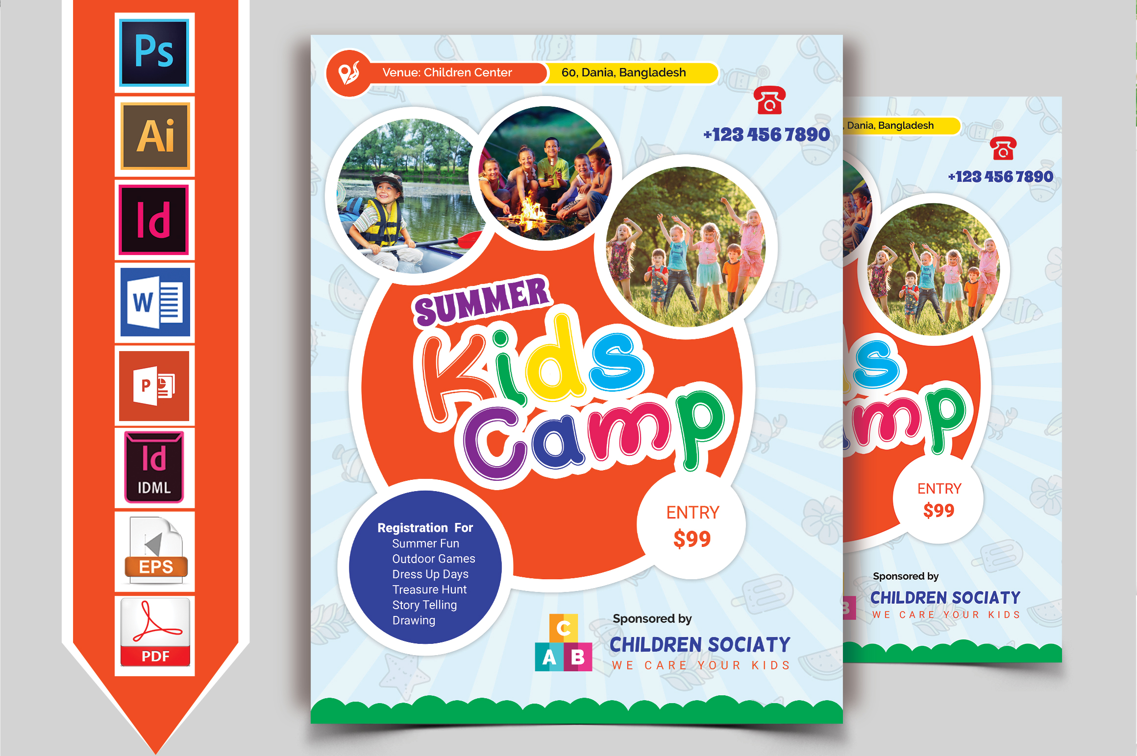 Kids Summer Camp Flyer Vol-07 example image 1
