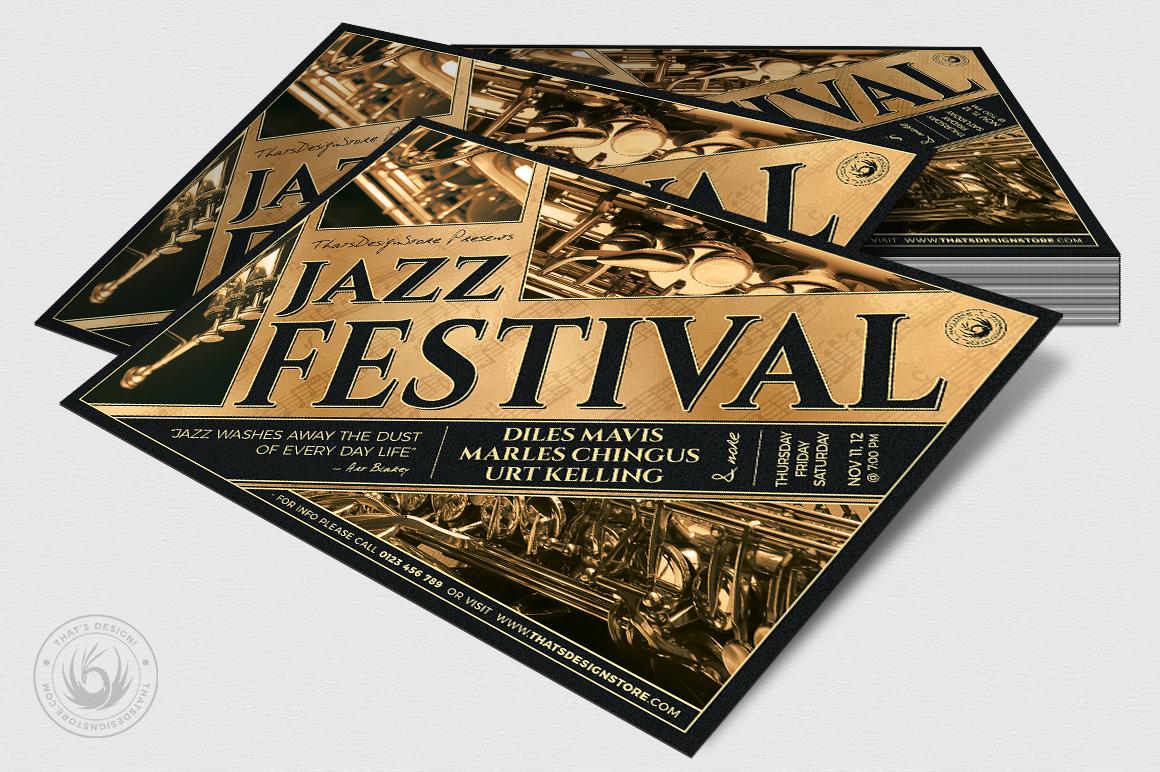 Jazz Festival Flyer Template V1 example image 4