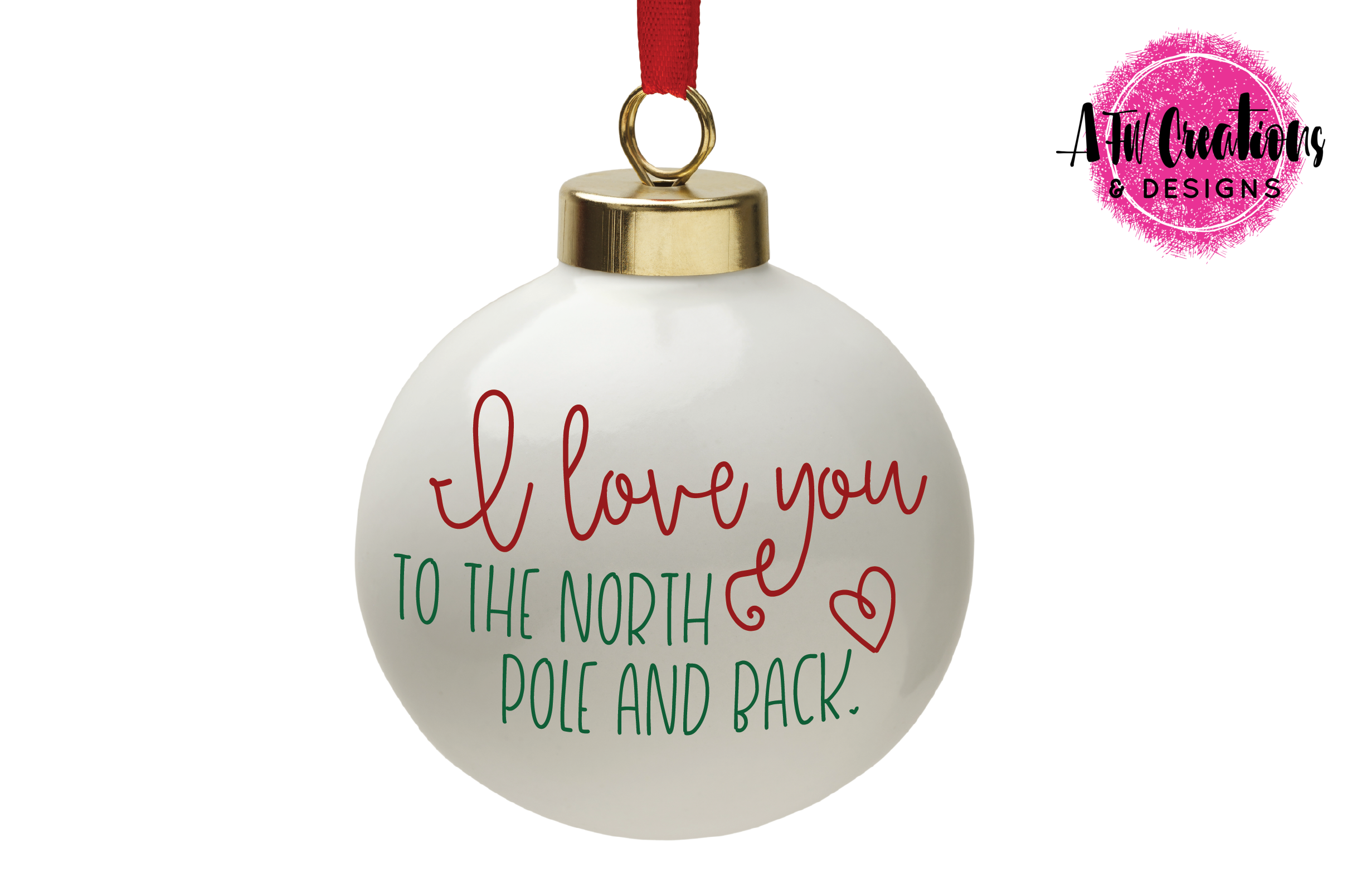 Love You To The North Pole & Back - SVG, DXF, EPS Cut File example image 2