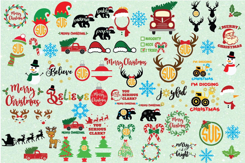 Ultimate Christmas Bundle SVG Cut File example image 2
