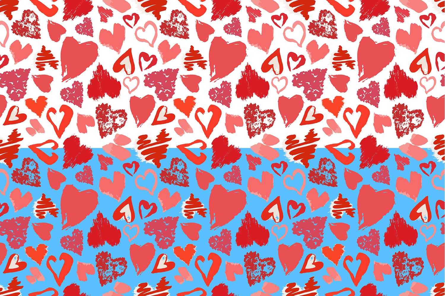 Vector grunge hearts+pattern example image 2