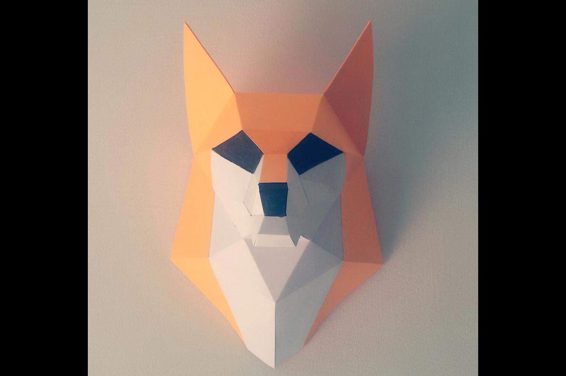 DIY Fox trophy - 3d papercraft example image 2